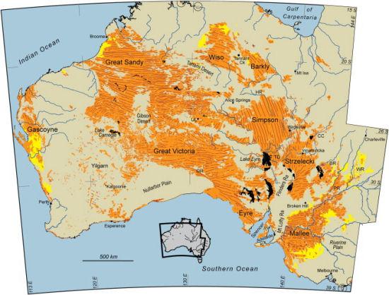 australian deserts map1jpg