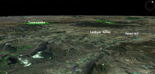 Crowded Flood-path: Lockyer-Valley, Wivenhoe Dam and Brisbane